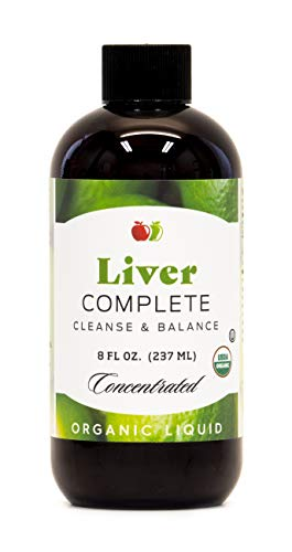 Liver Complete 8oz Organic Liquid Concentrate - Liver Cleanse & Digestive Bitters Vinegar Supplement