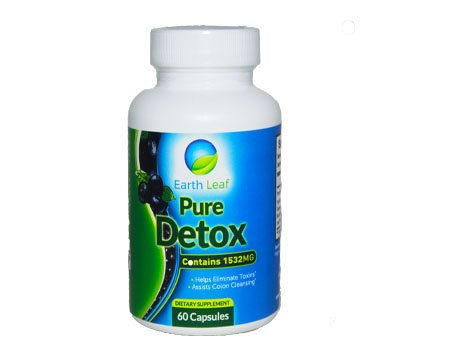 Earth Leaf- Pure Detox-1532 Mg- Helps Eliminate Toxins- Assists Colon Cleansing-Flush Impacted Waste, Lose Weight, Gain Energy