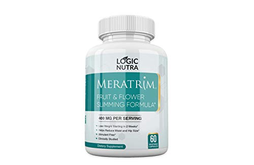 Meratrim Pure Weight Loss Slimming Formula, Garcinia, 60 Vegetarian Capsules, 400mg Daily - Stimulant Free Weightloss - New Bottle Design - Same Great Product