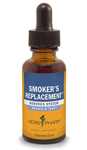 Herb Pharm Smoker's Replacement Liquid Herbal Formula for Nervous System Support - 1 Ounce