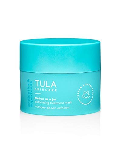 TULA Probiotic Skin Care Detox in a Jar Exfoliating Treatment Mask with Hydrating Vitamin E, Soybean Oil and Bentonite Clay   1.7 oz