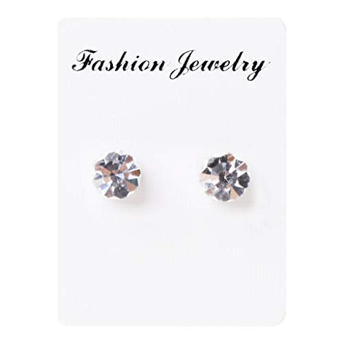 YDZN 1 Pair Weight Loss Earrings Healthy Stimulating Acupoints Stud Magnetic Therapy Products (Transparent)