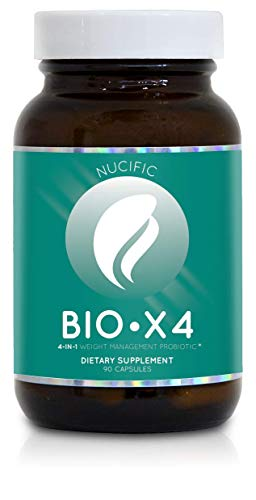 Nucific BioX4 4-in-1 Weight Management Probiotic Supplement, 90 Count.