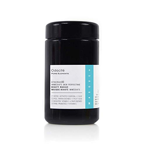 Odacité - Synergie 4, Immediate Skin Perfecting Beauty Masque, Detoxifying Face Mask, Facial Mask with Clay & Charcoal, Clay Mask Detox and Brighten, Face Mask for Pores and Blackheads, 2.1 oz.