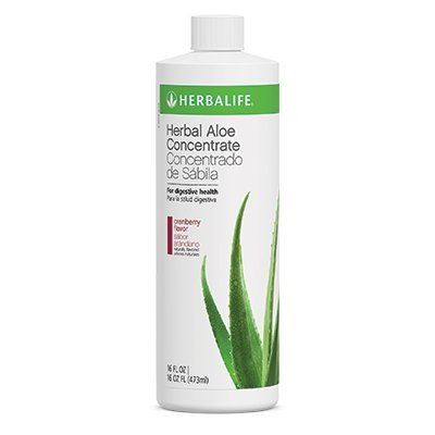 Herbal Aloe Concentrate Cranberry, Pint 16 Ounce