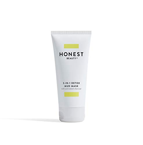 Honest Beauty 3-in-1 Detox Mud Mask With Activated Charcoal & Jeju Volcanic Ash | Paraben free, synthetic Fragrance Free, Dermatologist Tested, Cruelty Free | 2.8 Fl. Oz