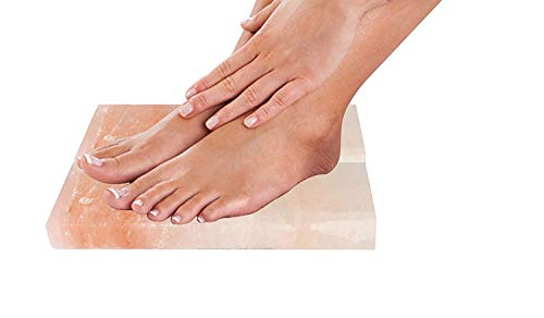 Artestia Set of 2 Himalayan Salt Block for Foot Detox with Use Directions (20 x 10 x 3 cm)