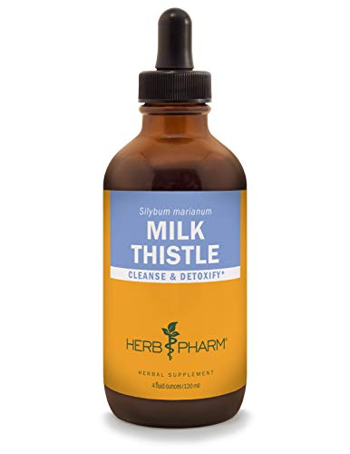 Herb Pharm Milk Thistle Seed Liquid  Extract for Liver Function Support - 4 Ounce