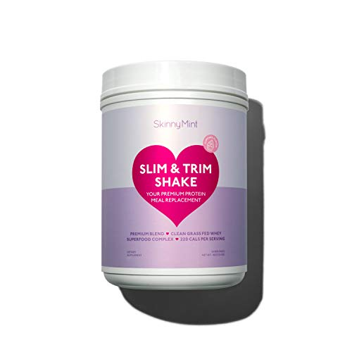 SkinnyMint Slim & Trim Shake. Cupcake Flavor Meal Replacement. Low Carb, Low Fat & Refined Sugar Free