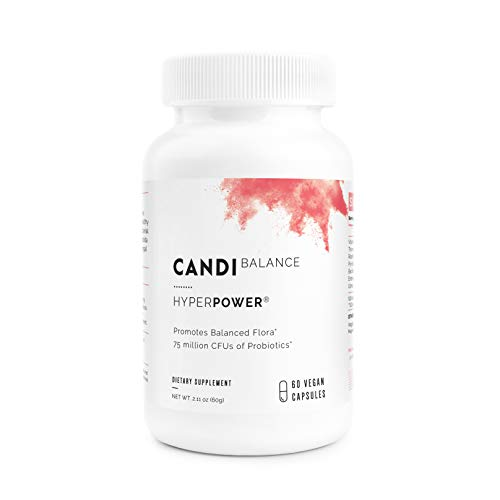HyperPower Candida Cleanse Extra Strength - Powerful Probiotics, Herb & Enzymes for Yeast Candida Overgrowth Treatment, Superior Relief - 60 Vegan Capsules