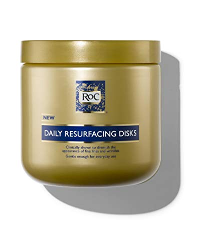 RoC Daily Resurfacing Disks, Hypoallergenic Exfoliating Makeup Removing Pads, 28 Count