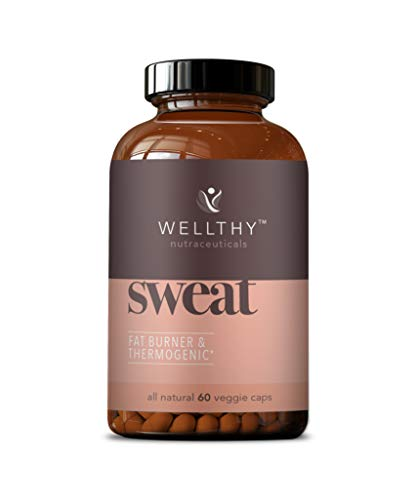 Wellthy Sweat Thermogenic Fat Burner Pills - All Natural Metabolism Booster and Appetite Suppressant for Men and Women - Increased Metabolism Supplement That Helps Promote Increased Weight Loss