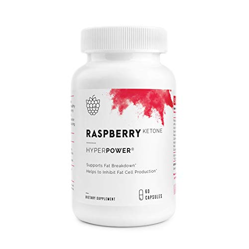 HyperPower Raspberry Ketones - 100% Pure Weight Loss Pills & Appetite Suppressant - Natural Fat Burner, Energy & Metabolism Booster with Antioxidants - 60 Capsules, Made in USA