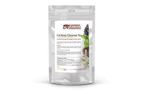 Full Body Cleanse Tea, Detox with Peppermint, Fenugreek, and Ginger (20 Bags)