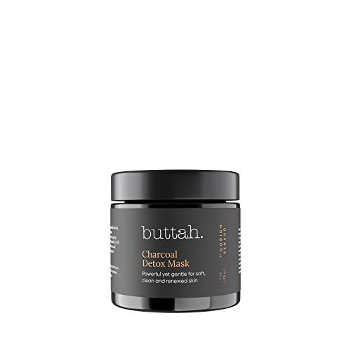 Buttah Skin Charcoal Detox Mask 1 fl oz e 30 mL - Activated Charcoal - African Butters - Rose Water - Detoxifying and deep cleansing mask for melanin rich skin - Black Owned Skincare