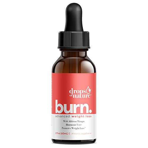 Keto Burn Drops for Weight Loss – Keto Supplement with African Mango – Promotes Weight Loss, Metabolism Booster, Suppress Appetite & Cravings – 2 Fl Oz Bottle