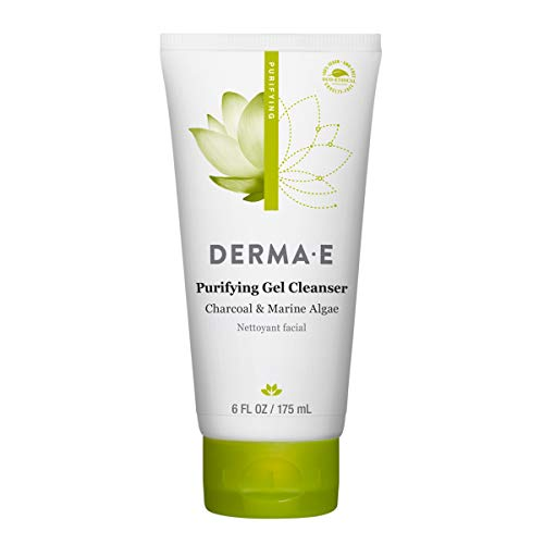 DERMA E Purifying Gel Cleanser With Marine Algae and Activated Charcoal, 6 oz
