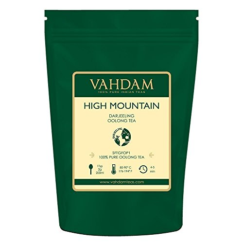 VAHDAM, High Mountain Oolong Tea Leaves from Himalayas (50 Cups), 3.53oz, OOLONG TEA FOR WEIGHT LOSS, 100% Detox Tea, Weight Loss Tea, Slimming Tea - Brew Hot, Iced, Kombucha Tea | Loose Leaf Tea
