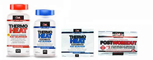 Advanced Molecular Labs Thermo Heat Daytime 120 Caps & Nighttime 60 Caps Fat Burner - Boost Your Body's Metabolism - Combo with 2 Free Samples (Samples May Vary)