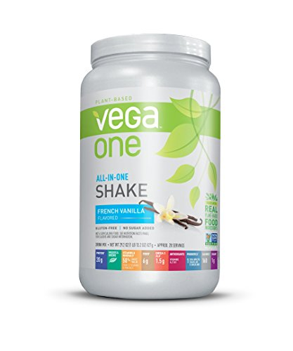 Vega One All in One Nutritional Shake French Vanilla - Plant Based Vegan Protein Powder, Non Dairy, Gluten Free, Non GMO, 29.2 Ounce (Pack of 1)