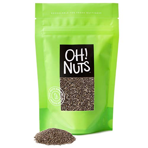 Oh! Nuts Whole Raw Black Chia Seeds | Healthy Superfood in Shelf-Stable Pack (36 Oz.) | No Additives, All-Natural Premium Chia Seed | Kosher, Keto-Friendly & Gluten-Free, Great for Weight Loss