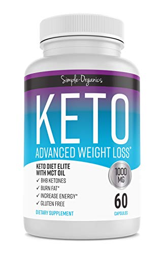 Keto Diet Pills 1000 Mg- Advanced Weight Loss Supplements- Burn Fat Instead of Carbs- 30 Day Supply