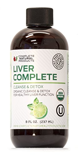Liver Complete 8oz - Organic Liquid Liver Cleanse & Detox Supplement for High Enzymes, Fatty Liver, Liver Support