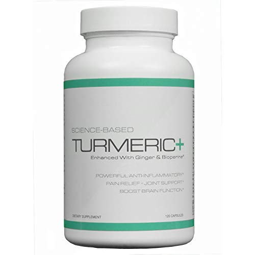 Turmeric+ - Enhanced with Ginger and Bioperine - 120 Capsules - 30 Day Supply
