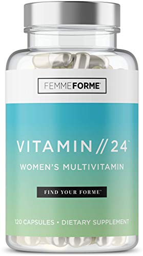 Femme Forme Vitamin//24 Multivitamin for Women: Womens Multivitamin Supplement with B Vitamins, Inositol and Sensoril Ashwagandha, Vitamins and Minerals Specifically Dosed for Women, 120 Capsules