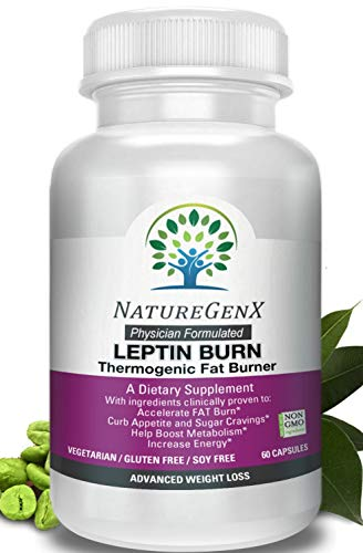 NatureGenX - Leptin Burn -Doctor Formulated Thermogenic Fat Burner, Clinically Proven - Appetite Control and Boost Metabolism, Leptin Supplements for Weight Loss Woman and Men, Non-GMO, No Soy, 60 ct