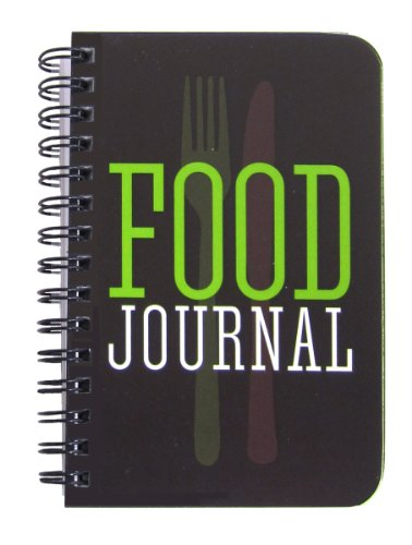 BookFactory Food Journal/Small Food Diary Logbook/Diet Journal Notebook/Book, 120 Pages - 3 1/2 x 5 1/4' (Pocket Sized), Durable Thick Translucent Cover, Wire-O Binding (JOU-120-M3CW-A (Food))