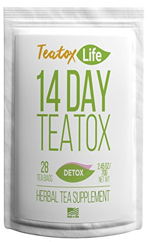 Skinny Mint Teatox Detox Tea with Dandelion Root, Ginger, Red Clover, Senna for Weight Loss (Women & Men)|Organic 14/28 Day Body Cleansing Slimming Tea| Natural Metabolism Booster for Smooth Move