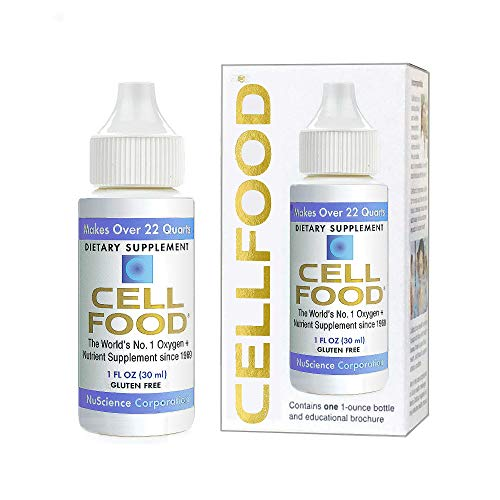 Cellfood Liquid Concentrate, 1 oz. - Original Oxygenating Immune Support Formula - Seaweed Sourced Minerals, Enzymes, Amino Acids, Electrolytes - Gluten Free, Non-GMO, Certified Kosher
