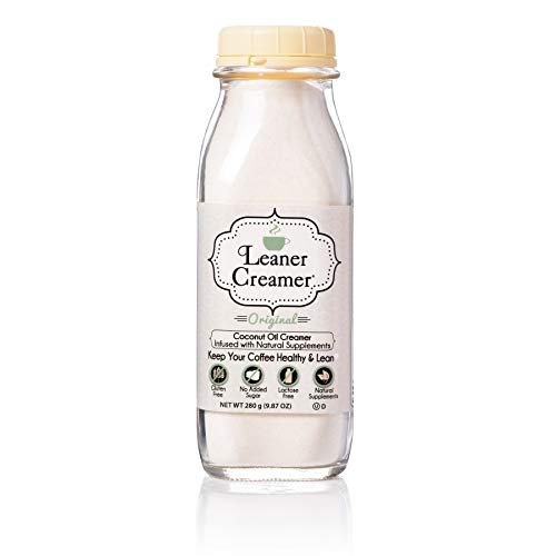 Leaner Creamer Original Coffee Creamer Powder 9.87oz. Perfect Coconut Oil Non-Dairy Powder To Naturally Cream and Sweeten Coffee, Smoothies, Protein Shakes & More! Ideal Flavoring For All Diets