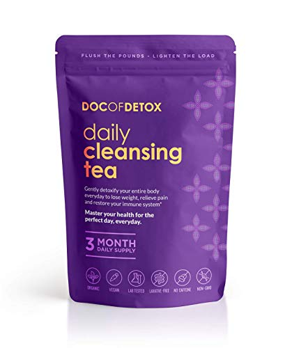 Doc Of Detox 90-Day Daily Detox Tea, Weight Loss Tea, Teatox Herbal Tea for Cleanse
