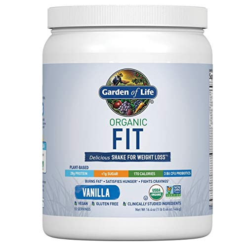 Garden of Life Organic Fit Protein Powder Vanilla 16.4oz, pack of 1