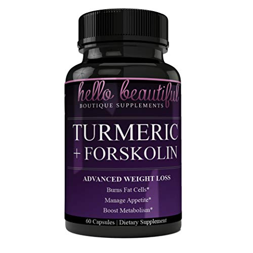Turmeric and Forskolin Advanced Weight Loss with Black Pepper for Advanced Absorption
