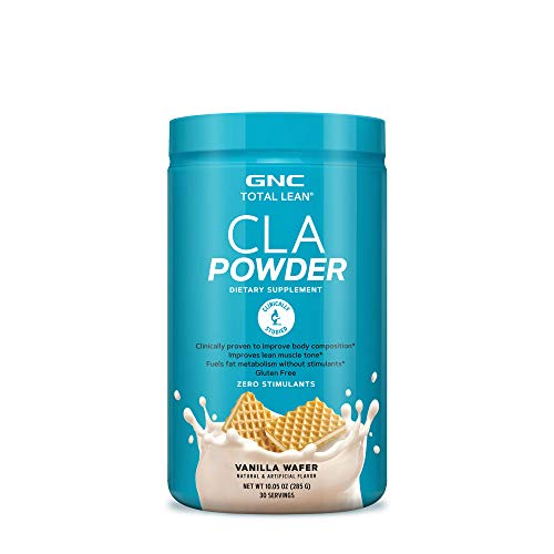 GNC Total Lean CLA Powder - Vanilla Wafer, 30 Servings, Improves Lean Muscle Tone