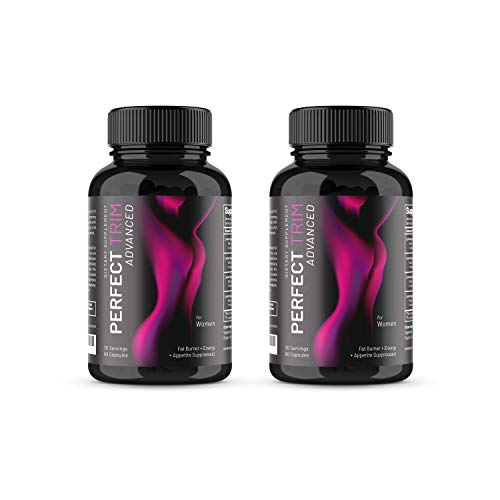 Perfect Trim Advanced Fat Burner for Women - Weight Loss Supplement and Appetite Suppressant, Green Tea Extract, Caffeine and Coleus Forskohlii to Boost Metabolism and Burn Belly Fat (2 Pack)