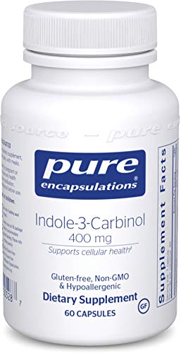 Pure Encapsulations - Indole-3-Carbinol 400 mg - Supports Healthy Breast, Cervical and Prostate Cell Function - 60 Capsules