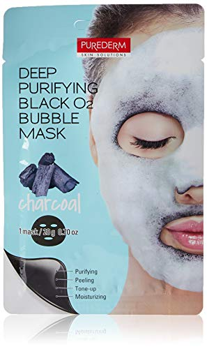 Purederm Deep Purifying Black O2 Bubble Mask (10 Sheets) (Charcoal)