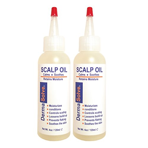 Dermasolve Psoriasis Scalp Oil (2-Pack) Seborrheic Dermatitis & Dandruff Relief - Formulated to Loosen Scaling Build-up, Moisturize, Condition, Prevent Itching, and Flaking (4.0 oz Each)