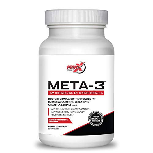Dr. Eric Prime X Meta-3 AM Thermogenic Keto Fat Burner for Men and Women (90 Veggie Capsules) Doctor Formulated Muscle Preserving Weight Loss Supplements - Metabolism Booster and Appetite Suppressant