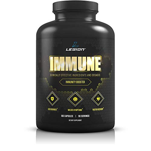 Legion Immunity - Immune Booster for Adults, Natural Immunity System Support w/Vitamin C (500mg), American Ginseng, Guduchi, and Garlic Supplement.