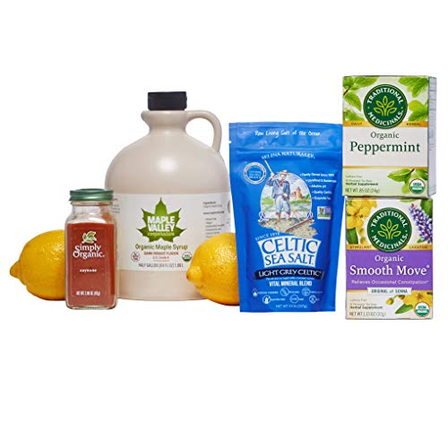 Maple Valley Organic Master Cleanse Lemonade Detox/Kit 10 Day Replacement Set