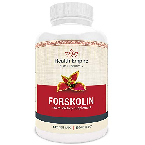 Pure Forskolin Extract 500 mg w/ 20% Standardized 60 pcs - Non GMO & Gluten Free Premium Forskolin Weight Loss - Coleus Forskohlii Root Extract - Energy & Metabolism Support - Made in USA - Risk Free!