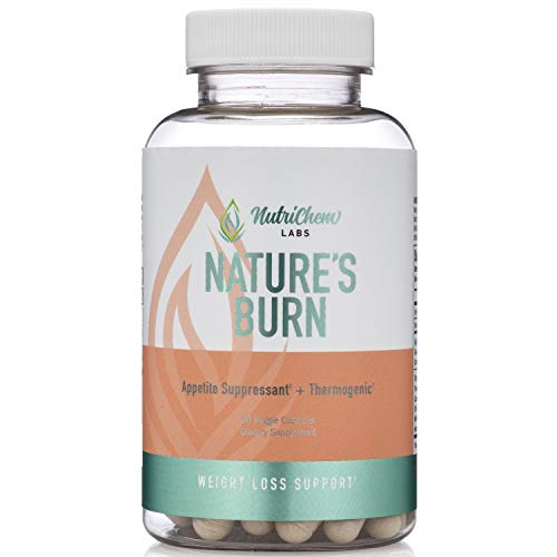 Nature's Burn - Vegan Fat Burner, Thermogenic and Clean Energy Nootropic with TeaCrine & Capsimax - 60 Count - Caffeine Free