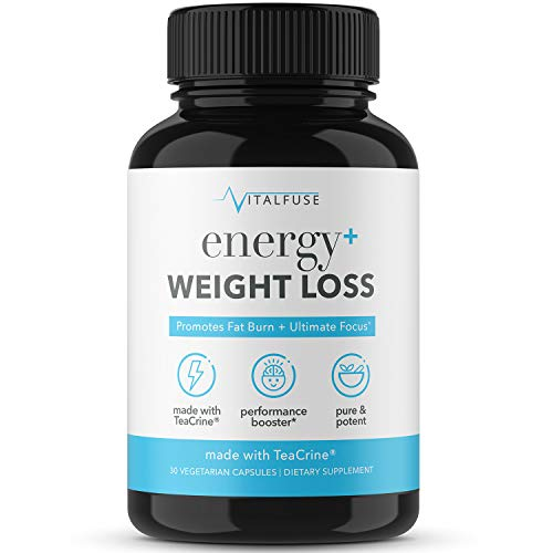 Vitalfuse Weight Loss Supplement with Energy Boost - Pure Chromium Picolinate, Organic Apple Cider Vinegar, Green Tea Extract - Energy Pills for Fat Burn; 60 Vegetarian Capsules