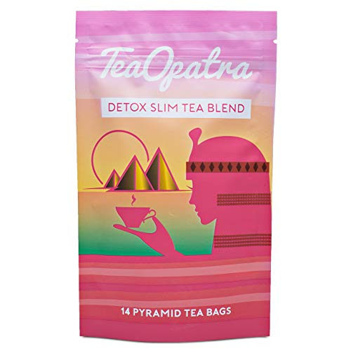 TeaOpatra Tummy Slimming Detox Tea: 14 Day Detox Cleanse for Weight Loss and Belly Fat - Zero Calorie Diet Tea for Fast, Skinny Results - Natural Cleansing Herbal Blend for Women - 14 Pyramid Tea Bags