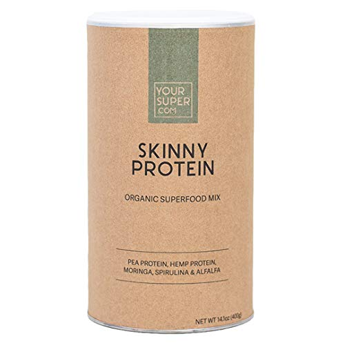 Your Super Skinny Protein Superfood Mix - Plant Based Protein Powder, Lose Weight, Control Hunger, Post Workout Recovery, Essential Amino Acids, Non-GMO, Organic Spirulina - 14.1 Ounces, 26 Servings